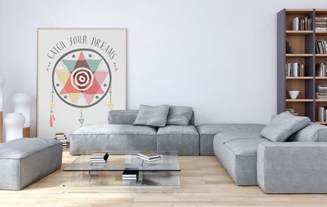 Poster dans le salon