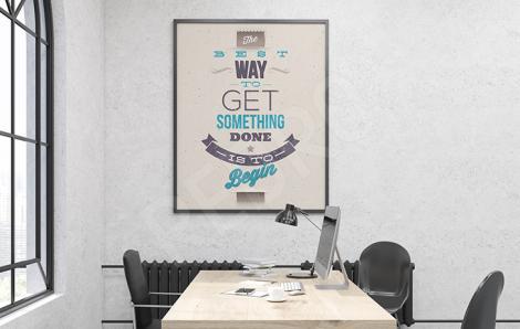Poster de motivation pour le bureau