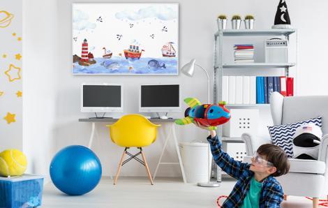 Poster mer pour une chambre d'enfant