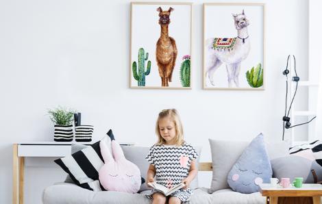 Poster pour un enfant avec des animaux